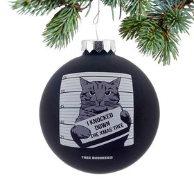Personalized Cat Mugshot Christmas Ornament