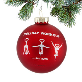 Personalized Holiday Wine Workout Christmas Ornament