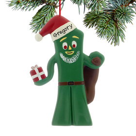 Personalized Gumby Santa Christmas Ornament
