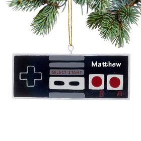 Personalized Nintendo Game Controller Christmas Ornament