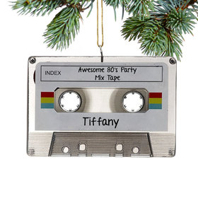 Personalized Cassette Music Tape Christmas Ornament