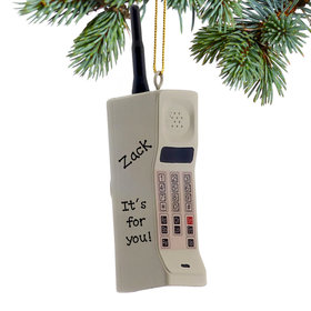 Personalized 80's Cell Phone Christmas Ornament