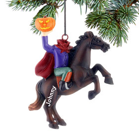 Personalized Headless Horseman Christmas Ornament