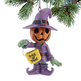 Personalized Halloween Pumpkin Man Christmas Ornament
