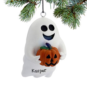 Personalized Friendly Ghost Christmas Ornament