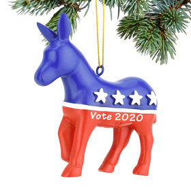 Personalized Democratic Party Christmas Ornament