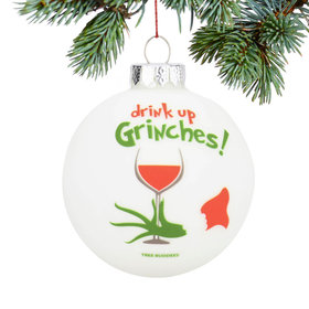 Personalized Drink Up Christmas Ornament