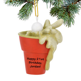 Personalized Beer Pong Christmas Ornament