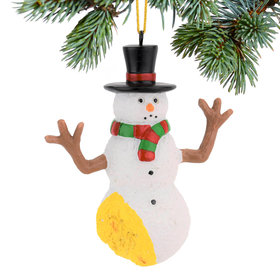 Personalized Pee on Snowman Christmas Ornament