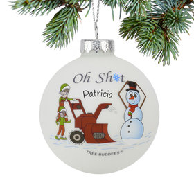 Personalized Oh Sh*t Christmas Ornament