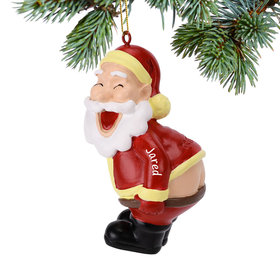 Personalized Mooning Santa Christmas Ornament