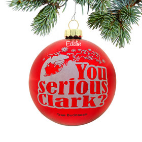 Personalized Serious Clark Christmas Ornament