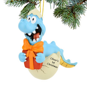 Personalized Baby Dinosaur Christmas Ornament