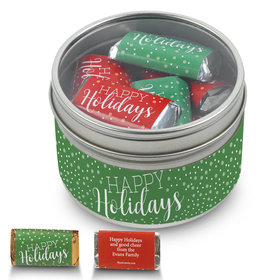 Personalized Hershey's Happy Holidays Miniatures Gift Tin