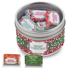 Personalized Hershey's Merry Christmas Miniatures Gift Tin