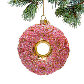 Personalized Sequin Donut Christmas Ornament