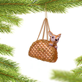 Purse Dog Christmas Ornament