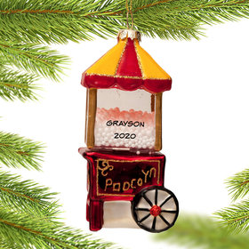 Personalized Popcorn Machine Christmas Ornament
