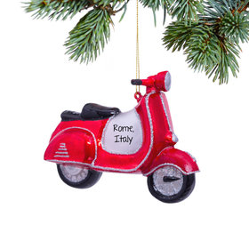 Personalized Red Scooter Christmas Ornament