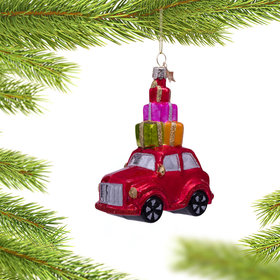 Personalized Car with Presents Christmas Ornament