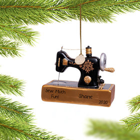 Personalized Vintage Sewing Machine Christmas Ornament
