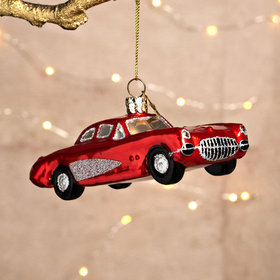 Personalized Red Car Christmas Ornament