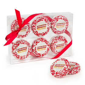 Personalized Chocolate Covered Oreo Cookies Christmas Add Your Logo 6pc Gift Box