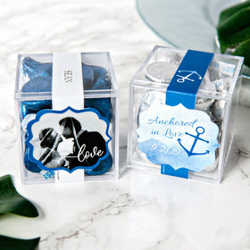 Personalized Wedding JUST CANDY® favor cube with Hershey's Kisses