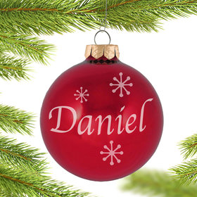 Personalized January Birthstone Christmas Ornament
