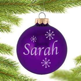 Personalized February Birthstone Christmas Ornament