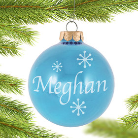 Personalized March Birthstone Christmas Ornament