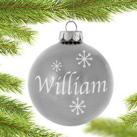 Personalized April Birthstone Christmas Ornament