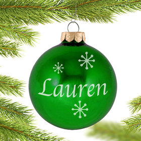 Personalized May Birthstone Christmas Ornament