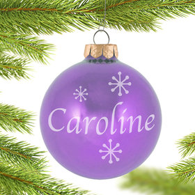 Personalized June Birthstone Christmas Ornament
