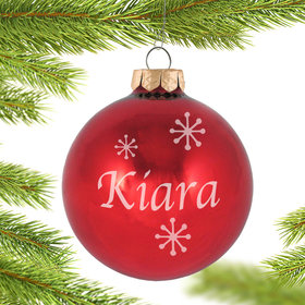 Personalized July Birthstone Christmas Ornament