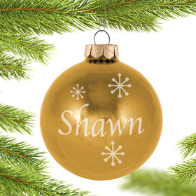 Personalized November Birthstone Christmas Ornament