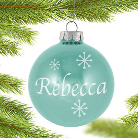 Personalized December Birthstone Christmas Ornament