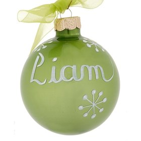 Personalized 08 - August Peridot Birthstone Christmas Ornament