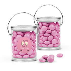 Personalized Rehearsal Dinner Favor Assembled Paint Can with Just Candy Milk Chocolate Minis