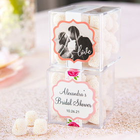 Personalized Bridal Shower JUST CANDY® favor cube with Jelly Belly Gumdrops
